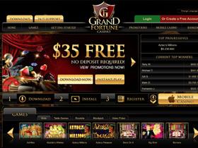 Grand Fortune Casino Bonus Codes And Review By Noluckneeded Com